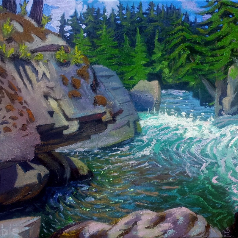 Andrew Gable Art - Cheakamus River