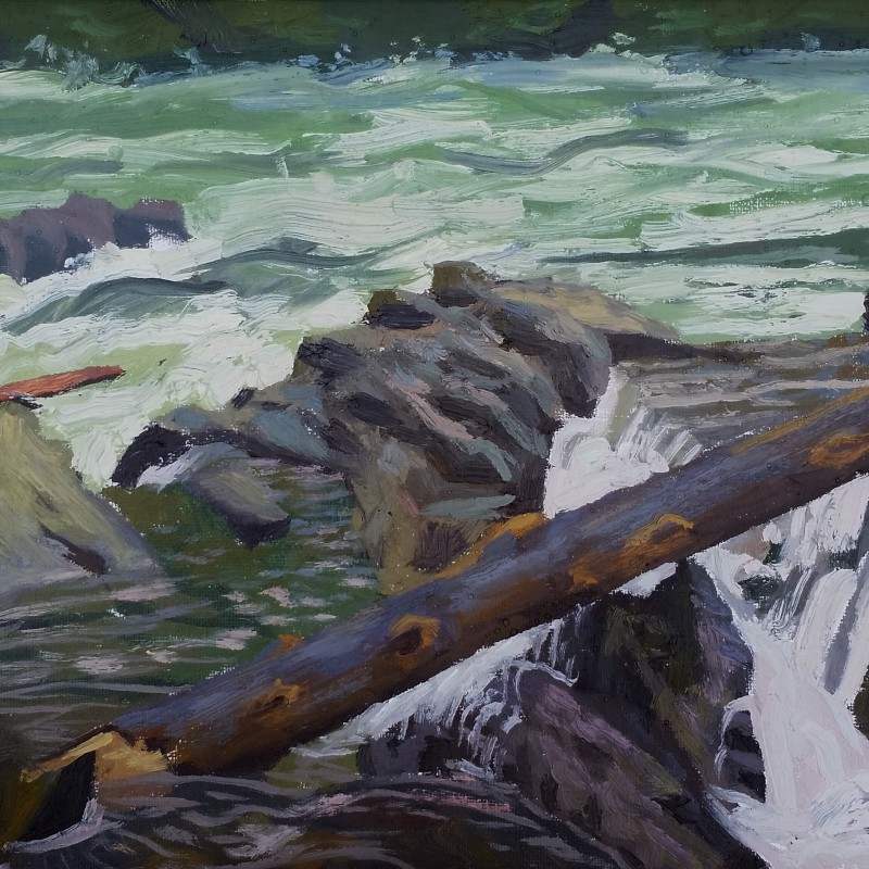 Raging Waters - original painting by andrew gable