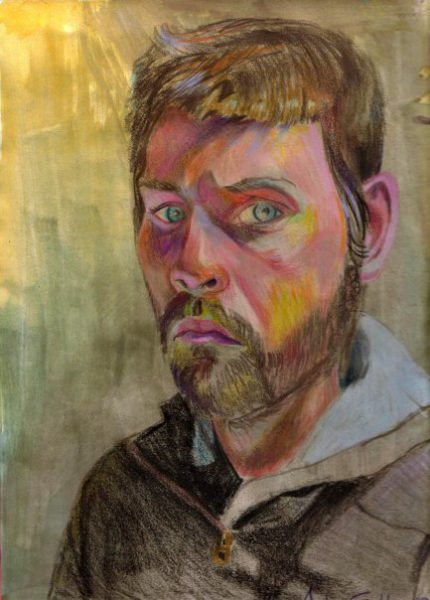 Self Portrait Drawing - Andrew Gable